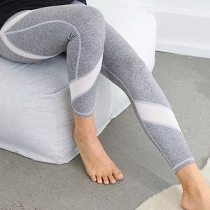 Aerie Chill Play Move 7/8 Grey Mesh Leggings